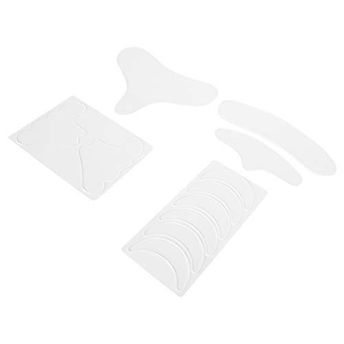 Cadeau de Juillet Tampons anti-rides, autocollant anti-rides réutilisable de conception lisse, durable flexible et confortable nettoyable pour le visage du cou