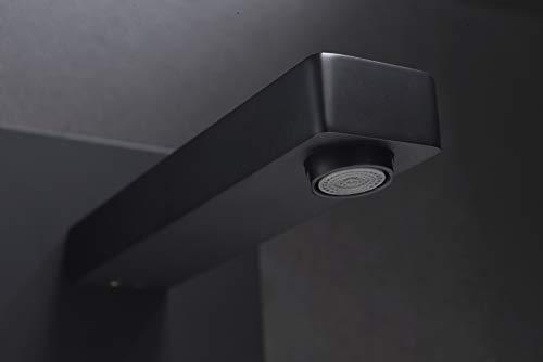 Grifo lavabo pared empotrado Imex Suiza Negro GLE020-NG