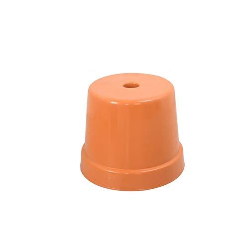 Faucet houlian shop Kruk plastic kruk volwassen badkamer antislip kleine bank kruk verdikking huis stoel ORANJE