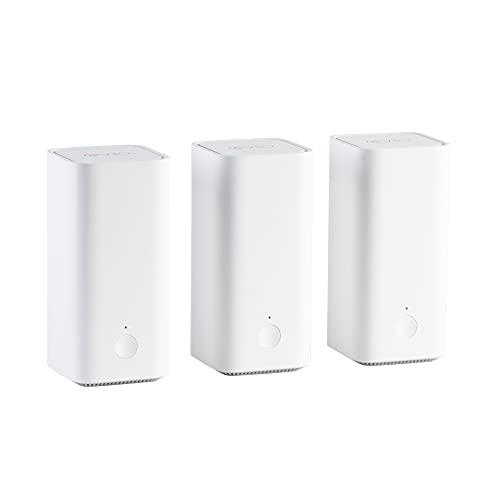 Vilo Mesh Wi-Fi System Dual Band AC1200 Coverage Up to 4,500 sq ft (3-Pack) with 3 Gigabit Ethernet Ports and App-Managed Parental Controls, Wi-Fi Router and Extender Replacement
