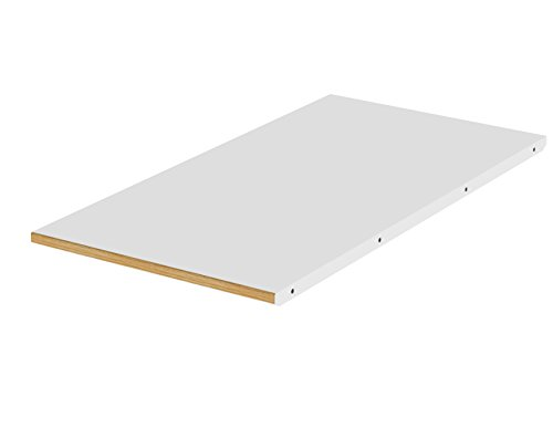 Tenzo DOT Designer allonge suuplémentaire, MDF Massif, HPL Blanc/Chêne, 45 x 90 x 2,5 cm