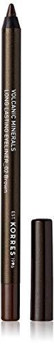 Korres Black Volcanic Minerals Eyeliner, 02 brown,1er Pack (1 x 1.2 g)