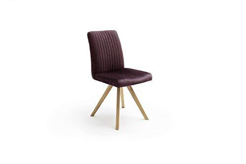 MCA 2er Set Esszimmerstuhl Oklahoma Bordeaux Wildeiche Küchenstuhl Stuhl