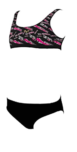 ARENA Mädchen G Meryl Jr Top Two Pieces Bikini Set, Black Multi-black, 116 EU
