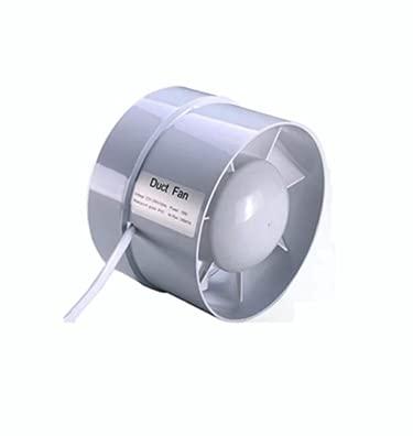IN-OV – Ventilador extractor de aire, económico 100 mm, 12 W/130 m3, extractor axial conducto en línea: cuarto de baño, cocina, sótano.