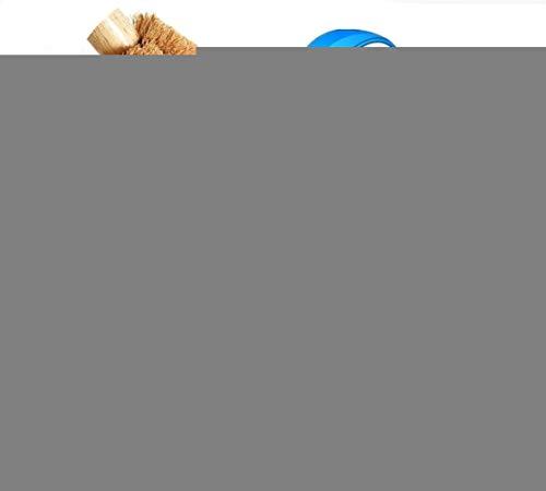 Wean Escobilla de inodoro de fibra de coco natural con mango de madera y cordón de algodón, color marrón