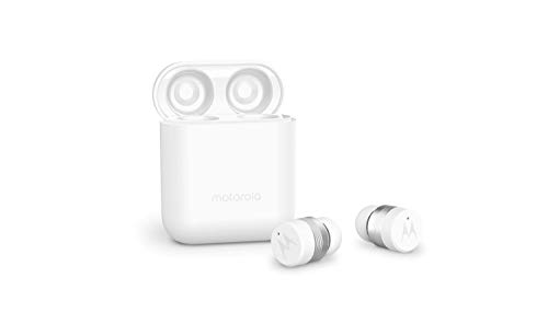 Motorola Verve Buds 110 (TWS) True Wireless Compact Water-Resistant Earbuds with Mic & Alexa (White)