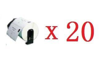UCI BP DK11209 [ 20 Roll, WITH FRAME ] Non OEM Compatible standard white adresse šŠtiquette For Brother QL 500, 550, 560, 570, 580N, 650TD, 1050, 1060N šŠtiquette imprimeur, 62*29mm, 800 šŠtiquette per Roll, WITH FRAME, announcement and optimized For above model,