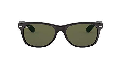 Ray-Ban New Wayfarer, Gafas de Sol Unisex adulto, Negro (Black Bordeaux 6182), 52 mm