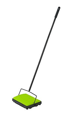 WENKO Teppichkehrer Grün teppichroller teppichbesen kehrmaschine Haare Teppich