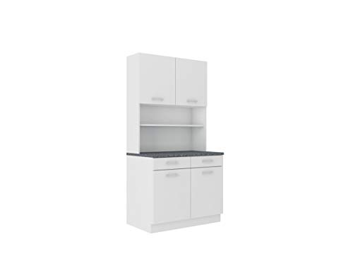 Buffet Küche Mario 100 Küchenzeile Küchenblock Einbauküche Weiss