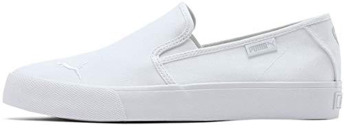 PUMA Women's Bari Slip On Sneaker, White White, 8.5