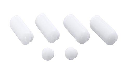 WENKO Auflagestopfen für Premium WC-Sitze - 6er Set, Kunststoff, 1.7 x 1.3 x 4.5 cm, Weiß