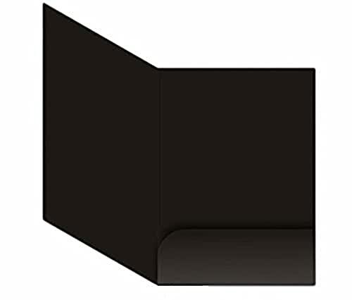 個別フォルダー a4 ( 10枚セット) クラフト紙 書類挟み 紙挟み ファイルフォルダー A4 / SS115 ( ブラック( 黒))