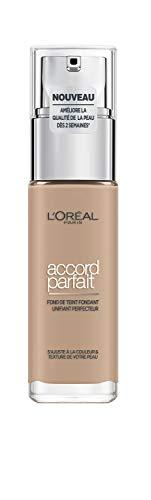 L'Oréal Paris - Fond de Teint Fluide Accord Parfait - Peaux Sèches à Normales - Teinte : Beige (4.N) - 30 ml