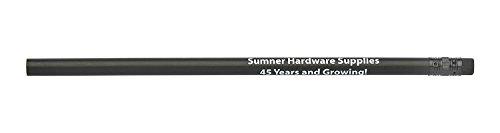 Pencil Guy Promotional Personalized Imprinted Black Matte Round Pencils - 1000 per box