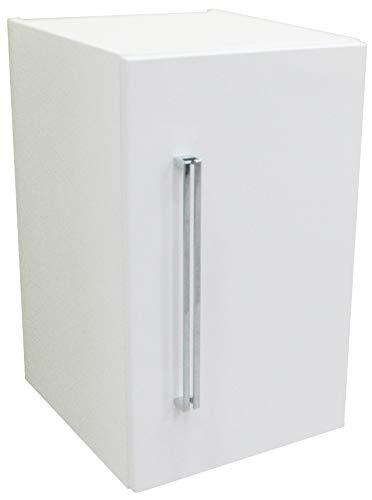 FACKELMANN Unterbauschrank Lugano/Soft-Close-System/Maße (B x H x T): ca. 35 x 59 x 39 cm/hochwertiger Schrank fürs Bad/Türanschlag rechts/Korpus: Weiß/Front: Weiß/Breite 35 cm