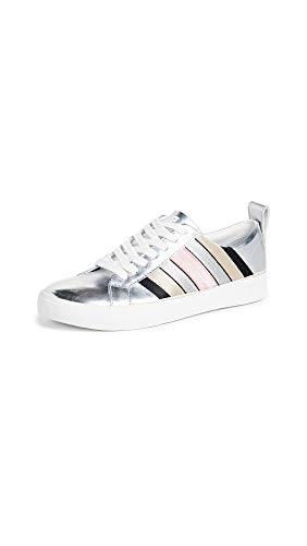 Diane von Furstenberg Women's Tess 13 Sneakers, Silver, 5.5 Medium US