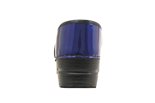 Sanita Professional Patent | Zuecos Cerrados | Producto Artesanal Original para Mujer | Plantilla de Forma anatómica con Espuma Blanda | Azul | 41 EU