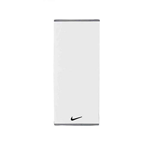 Nike Unisex– Erwachsene FUNDAMENTAL Towel Handtuch, White/Black, 60x120cm
