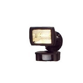 Cooper Lighting MS80 110 Degree 150W Halogen Motion Security Floodlight, Bronze
