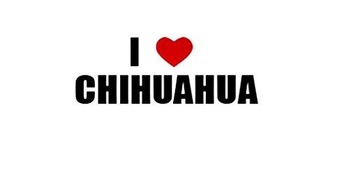 PressFans - I Love Chihuahua Mexico Decal Car Laptop Wall Sticker