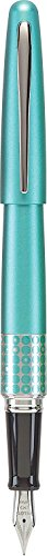 Pilot MR Retro Pop Collection Fountain Pen, Turquoise Barrel with Dots Accent, Fine Nib, Black Ink
