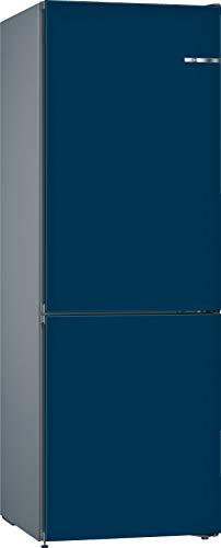 Bosch KVN36CNEA Serie 4 VarioStyle Frigorífico independiente/E / 186 cm / 239 kWh/año/puerta frontal intercambiable azul nacarado / 216 L / 89 L parte congelador/NoFrost/FreshSense