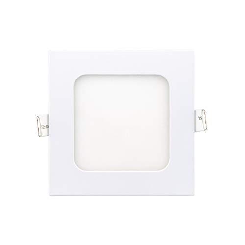 PACK 2-Placa LED Downlight empotrado cuadrado blanco Slim 5W 6W 12W 18W...