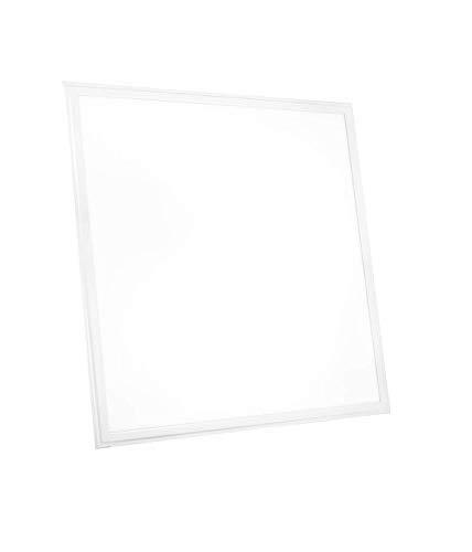 LED-paneel 60 x 60 cm Slim 36 W koudwit 6500 K 3000 lm plafondlamp kantoor hoekig plat ophanging met frame incl. transformator