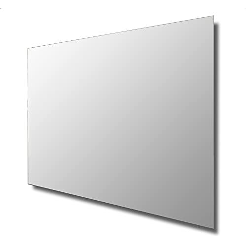 Espejo de Baño 60X80 Liso Smooth Horizontal. Espejo de baño Moderno baanio para Baño, Salón o Recibidor de fácil...