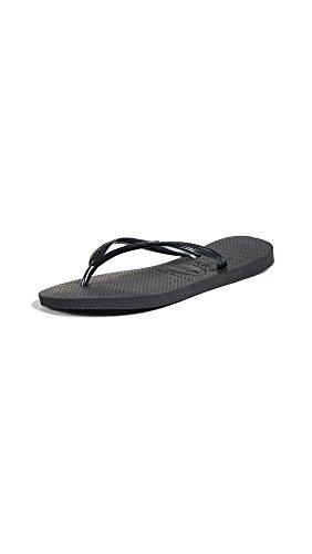 Havaianas Women's Slim Sandal,Black,39/40 BR (9-10 M US)