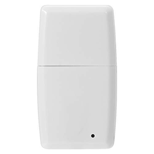 FOLOSAFENAR Mini Receptor estéreo inalámbrico Receptor Bluetooth Duradero de fácil Control Compatible con la mayoría de los Dispositivos Android e iOS(White, iOS)