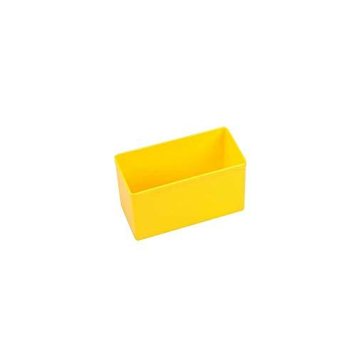 10 Einsatzboxen Allit EuroPlus Insert 63/1-63/5 Industrienorm Kleinteilemagazin Werkzeugaufbewahrung (Gr. 2 / Gelb)