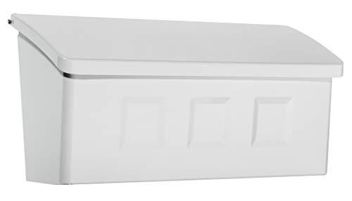 Architectural Mailboxes 2689W-10 Wayland Wallmount Mailbox, Small, White