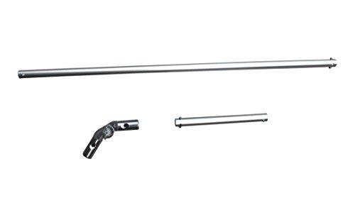 FenWi Aluminium Drehgelenk Set - Alu-Gelenk mit 20 + 80cm-Verlängerung als Zubehör für Teleskopstangen und Fensterwischer-Set`s - ideal für Starke Fenster-Leibungen und große Winkel