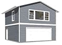 ガレージプラン: 2つ車、2Story Garage Withアパート–Plan 1107–1APT。4–( 4)のコピーplans