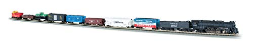 Bachmann Trains - Empire Builder Ready To Run 68 Piece Electric Train Set - N Scale
