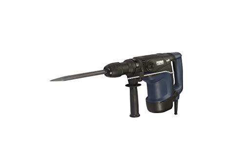 FERM Professional Bohrhammer 1100W - Variable Drehzahl - Für Bohr-, Meißel- und Drehschlagbohren - Inklusive Seitenhandgriff, Tiefenanschlag und Aufbewahrungskoffer