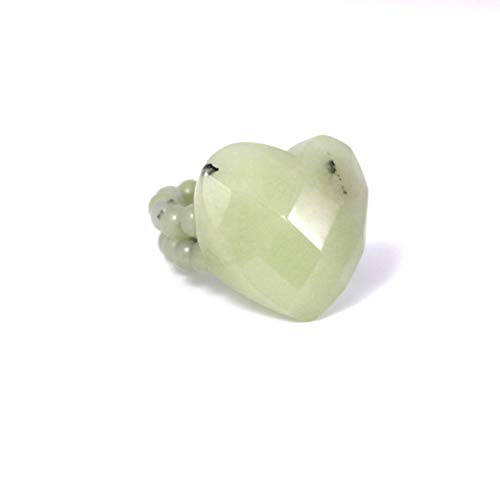 Lola Rose Beau Faceted Heart Shaped Cocktail Ring in Matcha Quartzite (E)