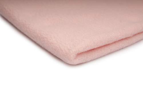 Orient Fashion Telas Polar Tela de Lana, Prendas de Punto 200 g/m² - Disponible en una Variedad de Colores - 50 x 160 cm (Rosa Polvo)
