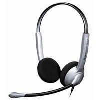 Sennheiser SH 350 beidseitiges Headset Large Ear Caps Noise Cancelling Mikrofon