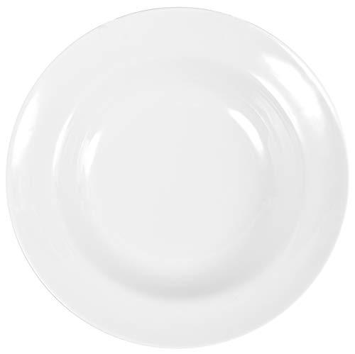 6 Stück XXL Tiefe Teller im Set aus echtem Porzellan Ø 240 mm Suppenteller weiß auch zum Bemalen bestens geeignet Tafelgeschirr für Gastronomie und Haushalt