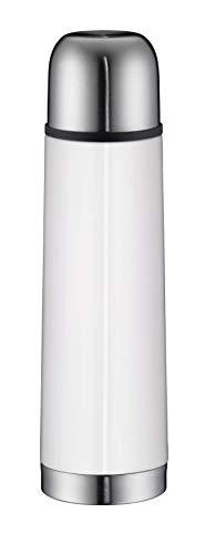 alfi 5457.211.050 Isolierflasche IsoTherm Eco, Edelstahl Alpinweiß, 0,5 Liter, Drehverschluss, 12 Stunden heiß, 24 Stunden kalt, BPA-Free