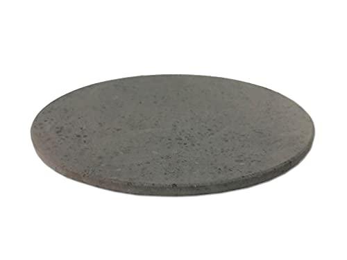 MY FRIEND SICILIA Piedra volcánica Etna para pizza redonda 33 cm diámetro | Placa refractaria para horno compatible con horno Illlo grosor 1 cm