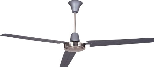 """Utility 56"""" Ceiling Fan with Wall Control, 3 Steel Blades, Titanium and Brushed Chrome - Craftmade UT56TBC3M"""