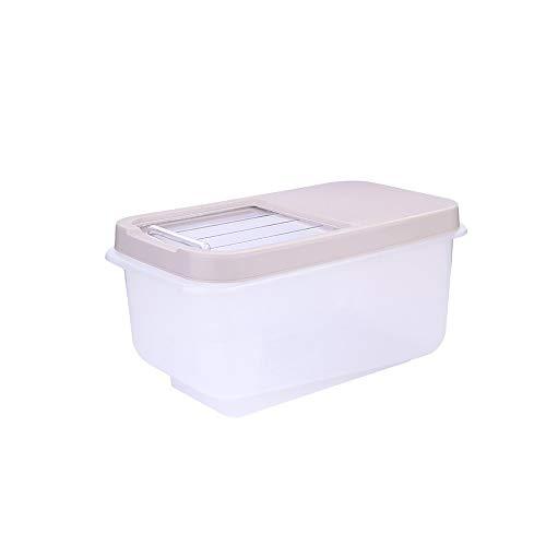 XYZMDJ Scatola di immagazzinaggio di riso in plastica da 8 kg Secchio sigillato Contenitore di farina di grano di grande capacità a prova di umidità Contenitore di stoccaggio di cereali per cereali da