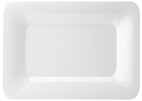 Utopia Jmp101 Mélamine Gastronomes et Buffet Ware plaque rectangulaire, cerclé, 35,6 x 25,4 cm, 35.5 cm x 25.5 cm (lot de 6)