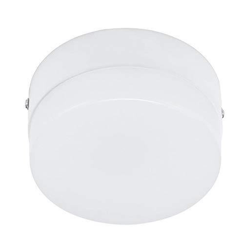 Lámpara LED de techo con sensor de movimiento, luz nocturna para interior y exterior, para pasillo, escalera, garaje, porche, cuarto de baño (15 W blanco frío)