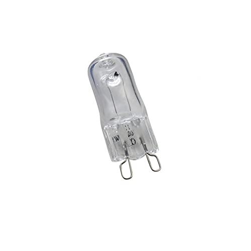 GHC LED Bombillas 100 unids/Lote LED Bombilla de luz Halógena G9 Bulbos 25/40 / 50W 110V / 220V 2800K Cálido Blanco Claro halógeno g9 lámpara lámpara araña (Wattage : 25W 220V To 240V)